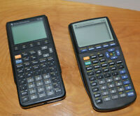 TI-85 & TI-83 GRAPHING CALCULATOR LOT PARTS REPAIR WITH COVERS TEXAS INSTRUMENTS