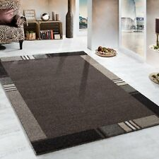 Modern Rugs for Living Room Brown Border Design Carpets Floor Mat Small Large XL