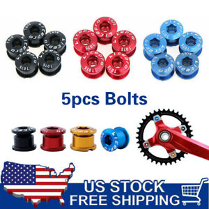 5pcs Alloy Bicycle Chainring Bolts Screws MTB Road Bike Single Speed Chain Ring