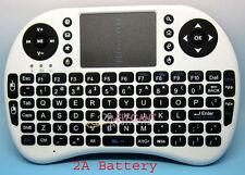 Blanc Sans Fil Clavier Mini Wireless Keyboard 2.4GHz 92 Keys Touchpad Windows