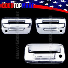 For Ford F150 2004-2014 Chrome Covers Set 2 Doors w/ P Keyhole + Tailgate w/ KH