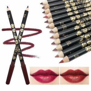 12 Colours Set True Makeup Lip Liner Pencil Cosmetic Lip Pen Lipliners