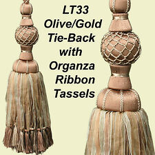 Curtain Tie backs with Organza Tassels x 2 pieces (choose from 4 Colours)
