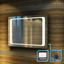 1000x700mm LED Illuminated Bathroom Mirror | IP44 |SENSOR |DEMISTER |HORIZONTAL