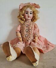 Antica bambola in biscuit della fine dell'800 primo 900