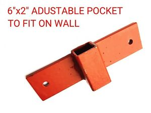 """MARKET STALL ADJUSTABLE POCKET 6"""" x 2"""" TO FIT ON WALL (2x PIECES)"""