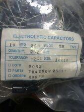 Mallory Capacitor 250 Volt 10uF Axial electrolytic x200