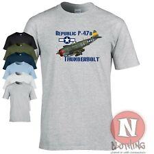 Republic P47 d Thunderbolt t-shirt World War 2 WW2 USAF Air force aircraft