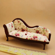 1:12 Children Dollhouse Miniature Furniture Wooden Recliner Chaise Sofa