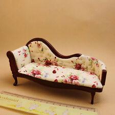 1:12 Children Dollhouse Miniature Furniture Wooden Recliner Chaise Couch Sofa n