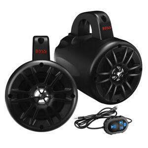 Boss Audio 2-Way 500W Amplified Waterproof Marine ATV Speakers Bluetooth Control