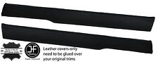 BLACK STITCH 2X TOP FRONT DOOR CAPPINGS LEATHER COVERS FITS MG MGB GT CLASSIC