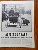 1947 Article Photo Ad Auto's 50 Years Looks back to days of Horseless Buggy