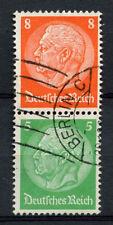 Germany Third Reich 1933, 8pf, 5pf Hindenburg Used Pair #A65874