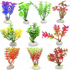 10 X Artificial Acuario Pecera Plantas Follaje arbustos