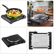 1500W Table Top Single Hot Plate Cooker Hob Electric Portable Stove Black New