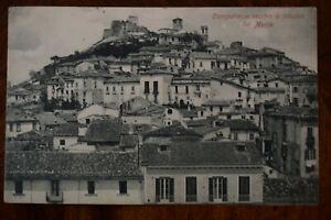 Ak Campobasso vecchio a ridosso del Monte, 1909 gelaufen