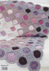 Stylecraft Alpaca Tweed & Alpaca DK 9231 Crochet Pattern Granny Circle Blanket