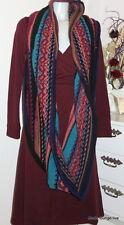 IVKO Wolle Jacquard Strick-Schal Loop scarf eclecticism black 32729 schwarz