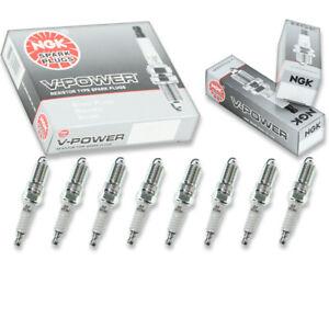8 pcs NGK V-Power Spark Plugs for 1999-2013 Chevrolet Silverado 1500 5.3L bo