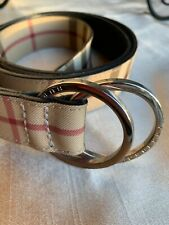 Authentic Burberry beige Belt leather length: 37""