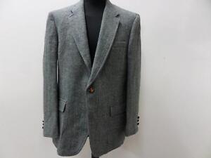 "Vintage Harris Tweed Blazer Jacket SAKS FITFTH AVENUE 44 L 42"" Blue Grade B W784"