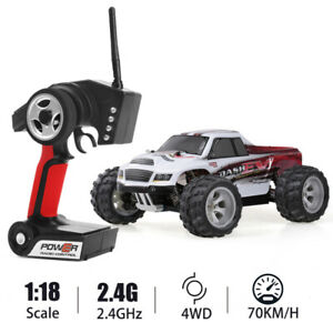 Upgraded Wltoys A979-B 2.4G 1/18 70km/h Racing High Speed Bigfoot Car Red&white