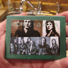 Foreigner Refrigerator Magnet; 'Double Vision' Classic Rock Metal Clad Fridge