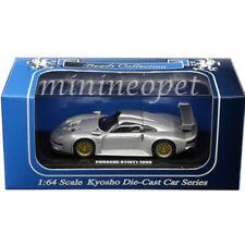 KYOSHO K06522S BEADS COLLECTION PORSCHE 911 GT1 1996 1/64 DIECAST SILVER