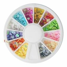 New Nail Art Heart Flake Glitters Acrylic Tips Decoration Manicure Wheel