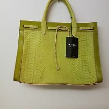 NWT Claudia Firenze Leather Handbag Green with Pink - Made in Italy