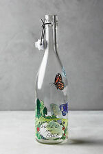NEW Anthropologie Molly Hatch Winged Migration Butterfly Carafe Glass Bottle