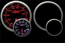 Fuel Pressure Gauge- Prosport Premium Peak Recall & warning Amber/White 52mm