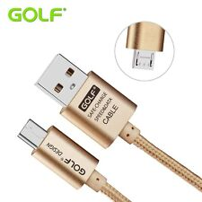 Long Original Golf Micro USB Cable for Galaxy S7 S6 Edge HTC One M8 M9 LG G4 G3