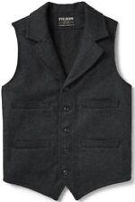 Filson Western Vest Charcoal 100% Mackinaw Wool, Men's XS NWT MSRP $195