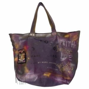 MARC JACOBS XL Canvas Tote Bag Customized W/ Vintage Excelsior Patch and Cosmic