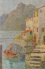 "VINTAGE ""HALL-COURT"" WOODEN JIGSAW PUZZLE. SPORT & TRAVEL SERIES ""LUGANO"""