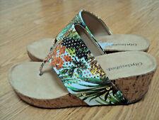 Womens City Classified Casual Flip Flop T Strap Platform Sandal Shoe Thong SZ 11