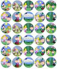30 x Ben and Holly Little Kingdom Edible Cupcake Toppers Wafer Fairy Cake Topper