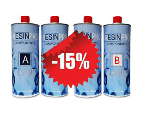 Offer 3.2 KG! Resin Epoxy Clear KG 1,6 + - Two Component