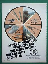 5/1984 PUB FN HERSTAL ARMES MUNITIONS MACHINEGUN FAL ORIGINAL FRENCH AD