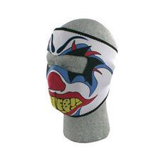 Clown Face Mask Neoprene Red Blue White Biker Costume Ski Reversable to Black
