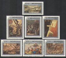 Nicaragua 1989 Art/Paintings/Liberty/StampEx/French Revolution 7v set (n36196)