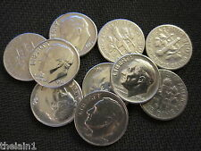 1946 - 1964 Roosevelt Silver Dimes US Coin 90% Silver - LOT of 10 TEN COINS