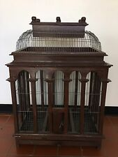 Large Victorian Wood And Wire Bird Cage Dome Top