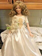 "Camelot Porcelain Doll - 21""  Bride"