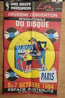 Affiche MARGERIN 2EME CONVENTION INTERNATIONALE DU DISQUE 38x64 1984 pliée en 4