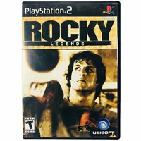 Rocky Legends (2004) - Sony PlayStation 2 PS2 Boxing Sports Video Game w/ Manual
