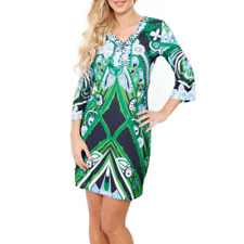 528e61b8b6c NEW White Mark Couture Green Navy Multi Colored Dress Size 10 Extra Large  XL NWT
