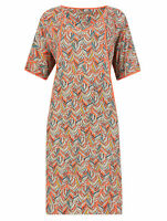 Marks and Spencer M&S Size 8-20 Feather Print Long Tunic Shift Dress